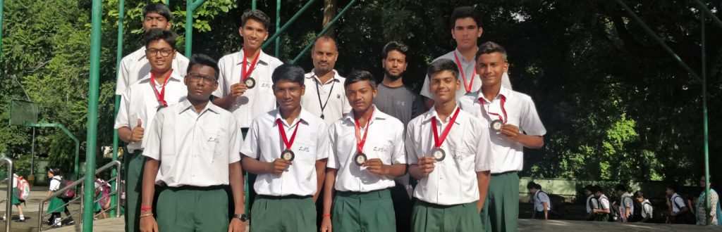 2 RUNNERS' UP IN INTER SCHOOL BASKETBALL CHAMPIONSHIP, ORGANISED BY URBAN SERVICES TATA STEEL